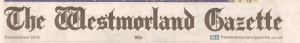 Westmorland Gazette Title