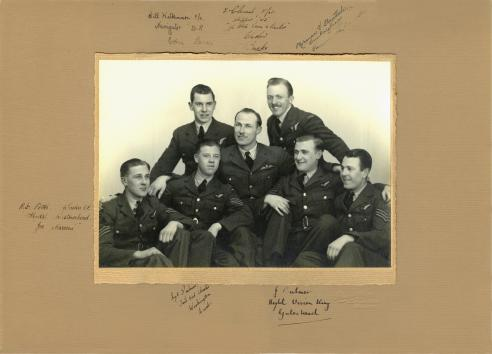 Photo signed in early 1944 at RAF Swinderby